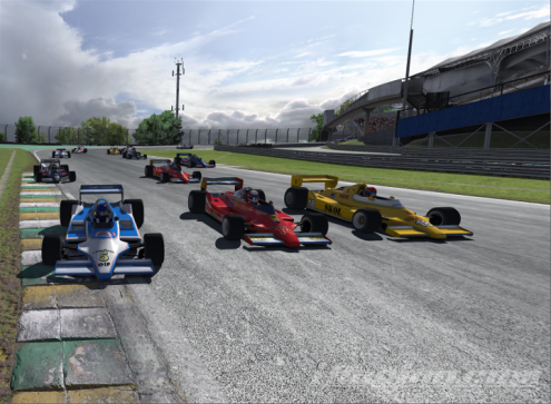 Hill, Cunningham, Wiltshire 3-wide into Turn 2