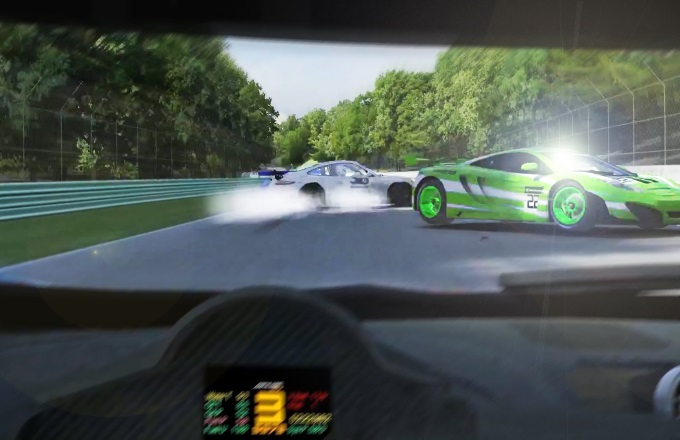 On-track incidents can happen at any moment. Situational awareness is one of the many skills that sim-racing teaches.
