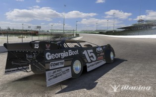 DLM/Eldora: Taking the Dirt Late Model out for a spin around an early version of Eldora.  Track textures are placeholder.