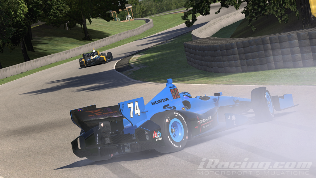 Blocker spins on the final lap