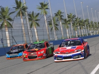 Ford Chevy and Toyota Gen6 NASCAR race cars at California