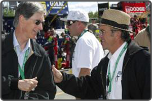 Henry with Roush Fenway Racing co-owner Jack Roush