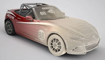 Modeling the Global Mazda MX-5 Cup car