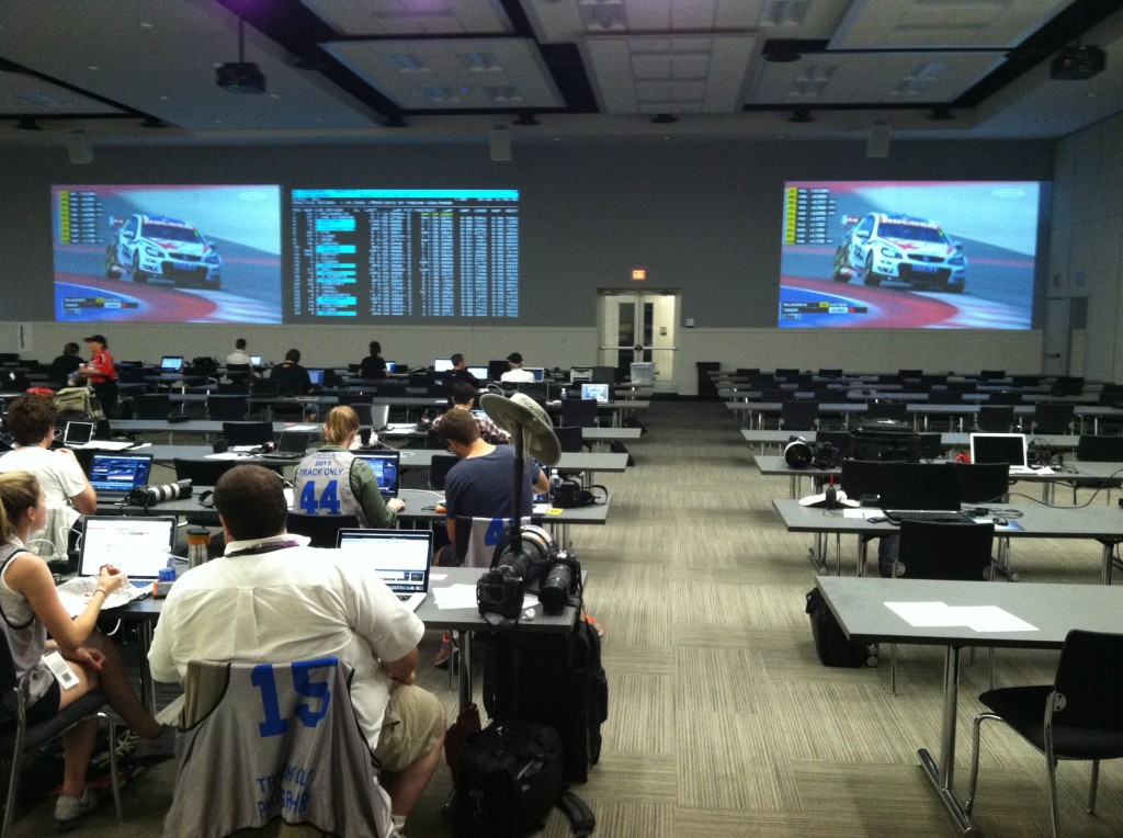 The impressive Media Center at The Circuit of the Americas