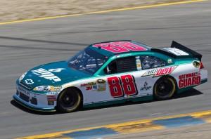 Kevin King's Mountain Dew Paint Scheme on Dale Earnhardt Jr's car