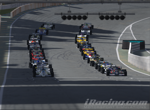 A healthy 28 car starting grid.