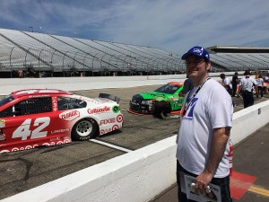 Dan Garrison checking out hot rubber at NHMS