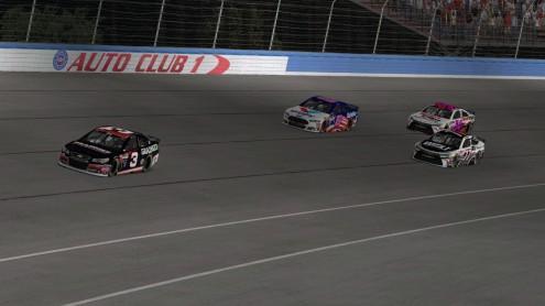 racing at Fontana