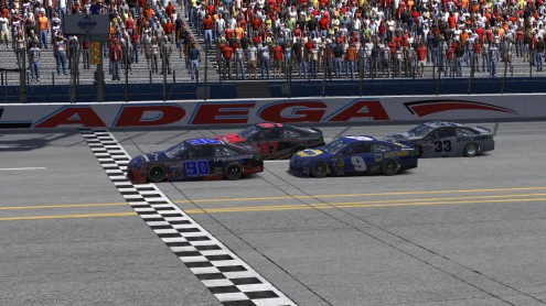 racing at Talladega