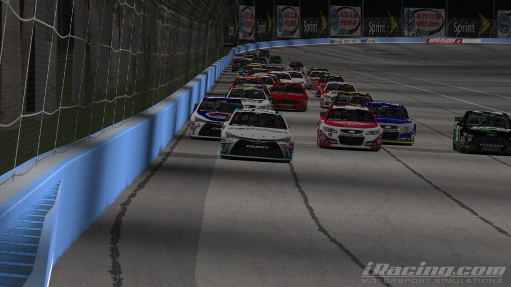 After a trio of podium finishes, Boes (21) broke into the W column in the virtual Inland Empire.