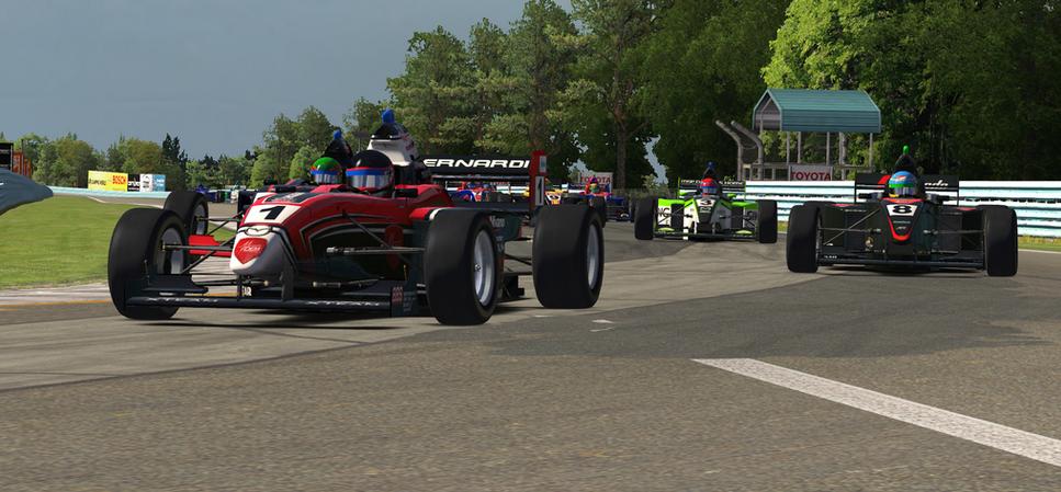 Bernardi negotiates the Inner Loop en route to his win at The Glen.