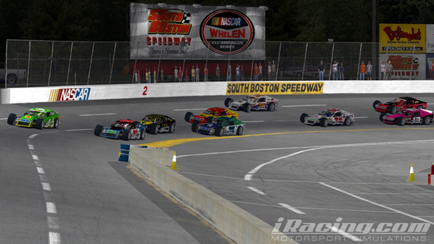 Moore (#26) and Holloway (#4) head out of Turn 2 in pursuit of race leader Temples.