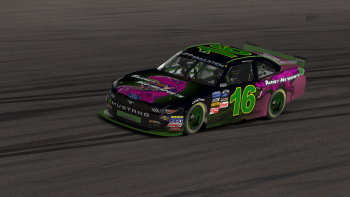 While his Purple Dino Ford certainly looked mean, Bobby Barney (#16) cleanly and methodically charged toward the front.