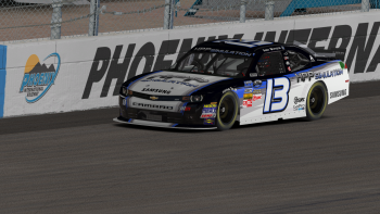 Gary Whitson put the pedal to the medal in representing series sponsor HPP Simulation on his #13.