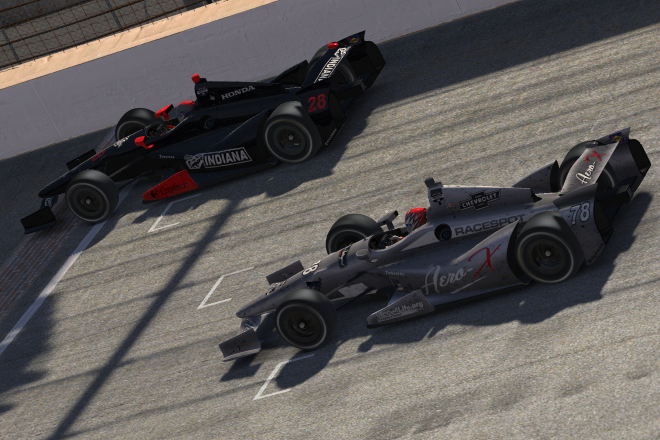 Branch holds off Steele to win the 16th Street Indy 500 by just .052s.