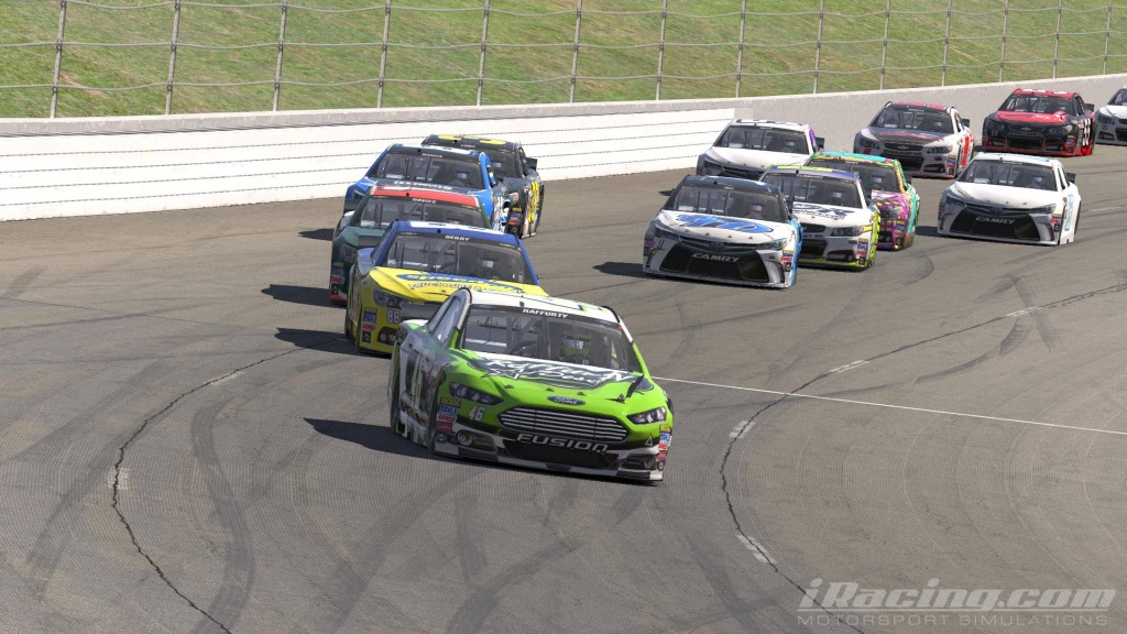Raffurty, Berry and Davies storm towards the checkered flag on the final restart.