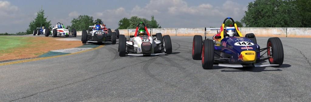 Eero Tuominen, Martin Ascher, Daniel Schwonek and others racing hard.