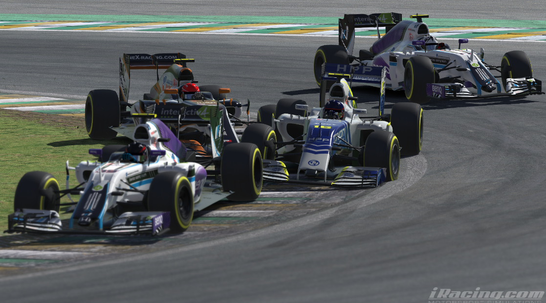 Although Törmälä cruised to the win, there was no shortage of close sim racing further down the order.