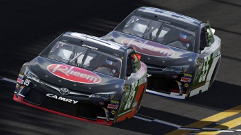 Nick and I in the new Rheem cars at Daytona