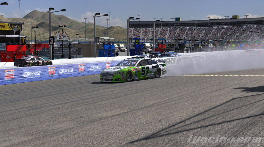 PJ Stergios had good reason to celebrate after taking his first NASCAR PEAK Antifreeze Series win.