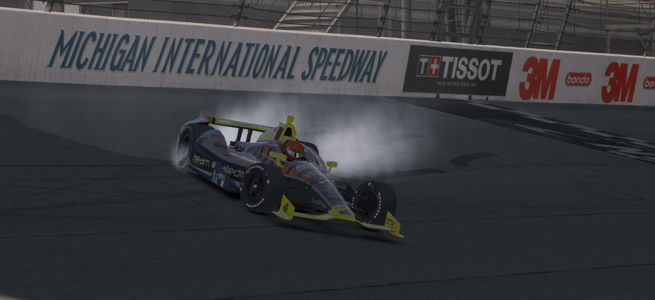 "Korey ""Tiger"" Connor celebrates his upset win at MIS in style."