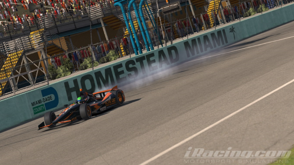 Big Joe Hessert celebrates his win at Homestead in a big way.