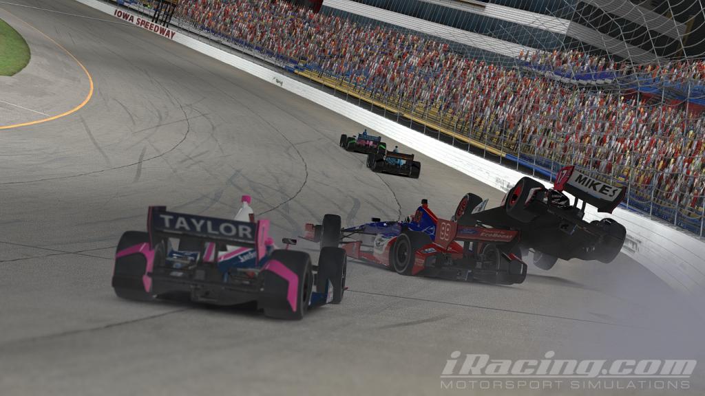 Wright narrowly avoids a big wreck