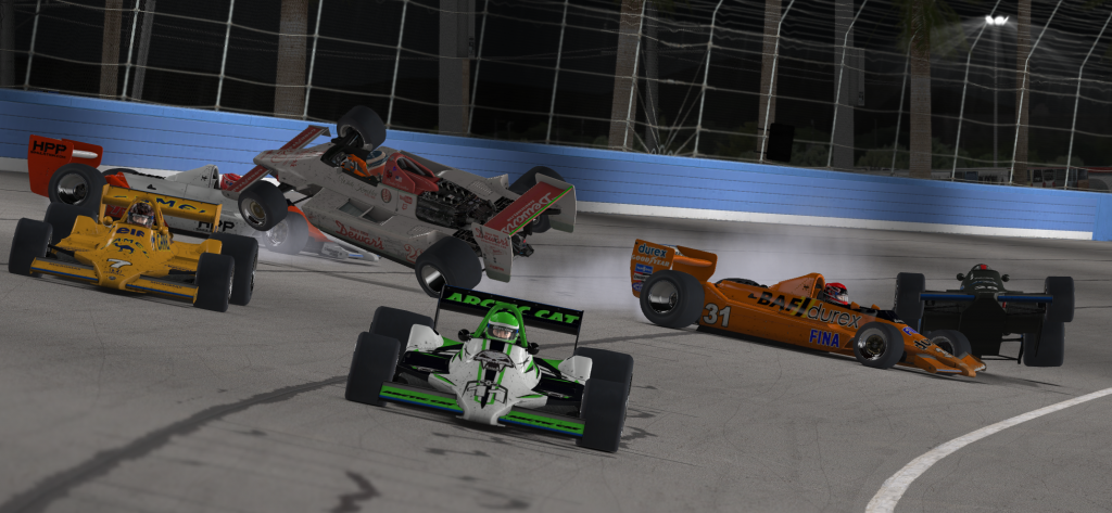 Chaos ensues as Dustin Wardlow runs of out fuel on the final lap