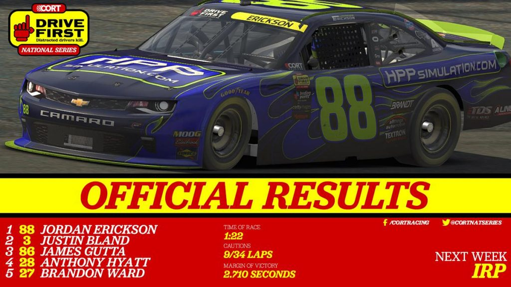 CORT National Series: Erickson Outduels Bland to Win