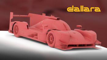 Dallara P217 LMP2 Clay Model Render