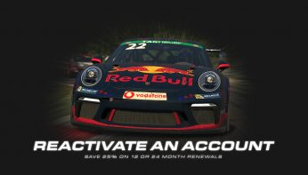 Save 25% When You Reactive Your iRacing Account