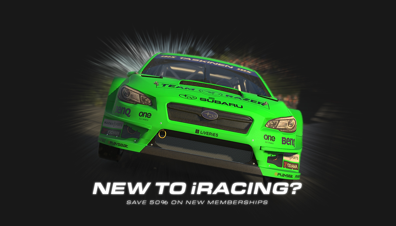 Save 50% When You Sign Up for iRacing Today
