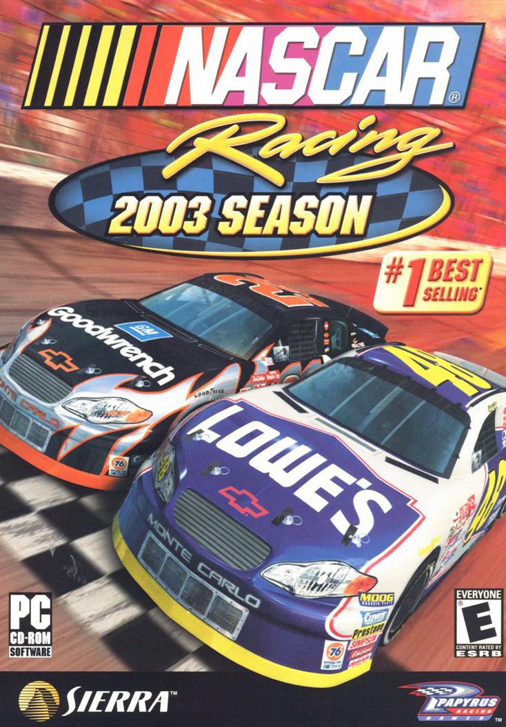 NASCAR Racing 2003 Season - Cover Art