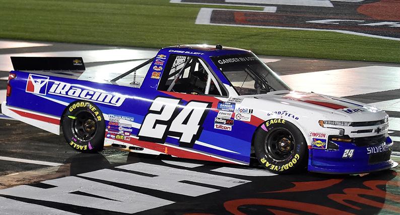 Chase Elliott's NASCAR Chevy Silverado at Charlotte Motor Speedway