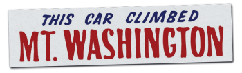 This Car Climber Mt Washington Bumper Sticker